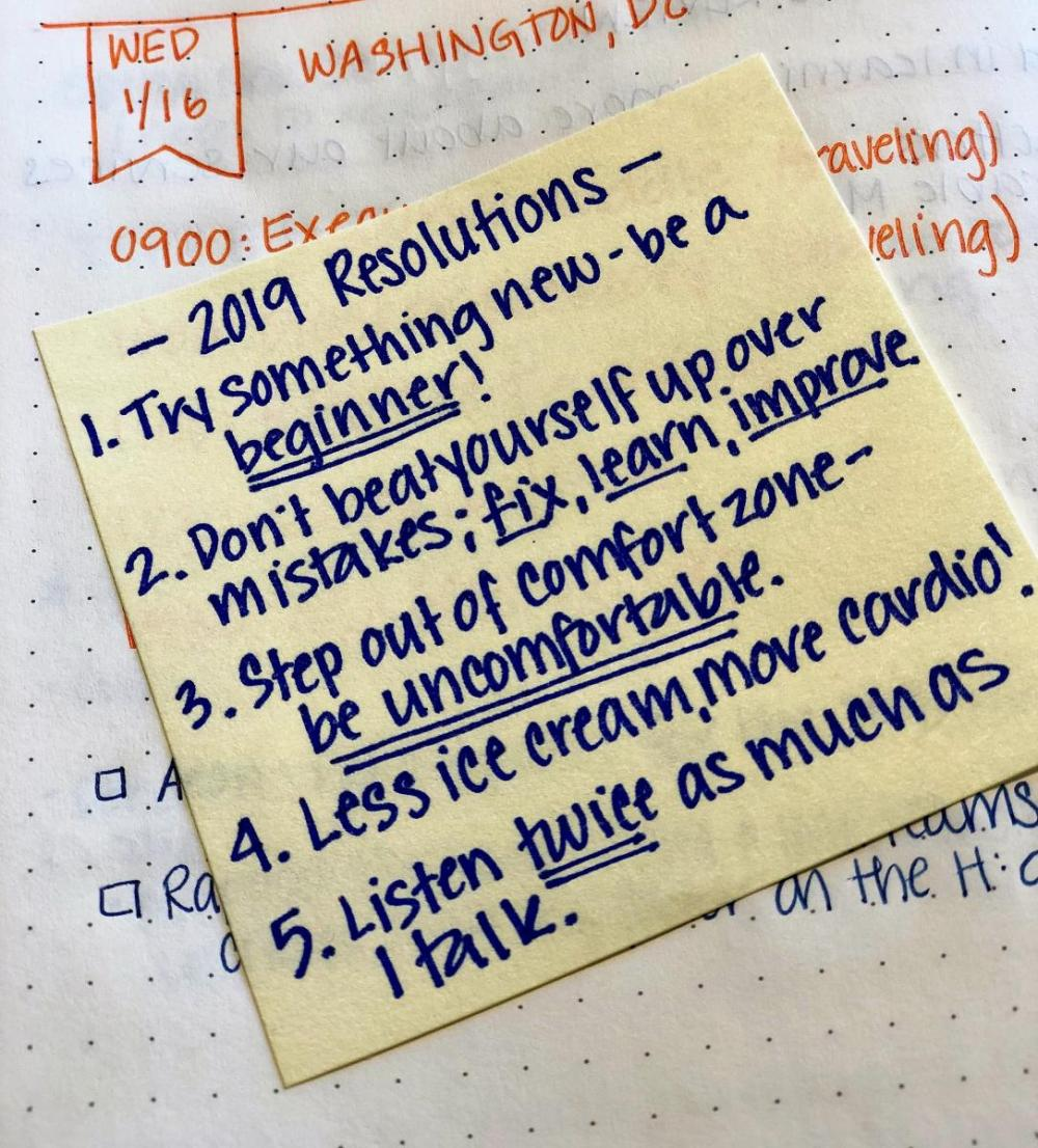 My 2019 New Year's Resolutions