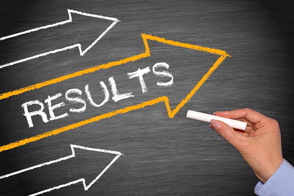 Graphic depicting building results